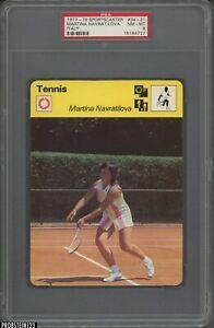1977-79 Sportscaster Tennis #34-21 Martina Navratilova Italy PSA 8 NM-MT