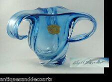 Val St Lambert Grote Blauwe Kristallen Vaas – Grand Vase en Cristal Bleu 1950