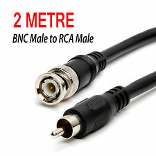 2 metre BNC To PHONO RCA Cable Video Lead CCTV DVR input TV output RG59 Coaxial