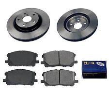 Front Ceramic Brake Pad Set & Rotor Kit for 2008-2014 Toyota Camry Hybrid