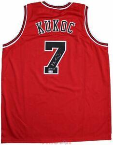 Toni Kukoc Signed Autographed Chicago Red Custom Jersey Inscribed HOF 21 TRISTAR