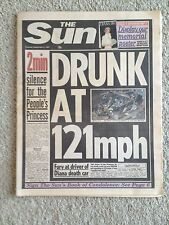The Sun Newspaper. Princess Diana. 2nd September 1997