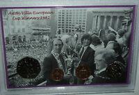 Aston Villa AVFC Vintage European Cup Final Winners Retro Coin Fan Gift Set 1982