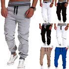 Men's Plain Jogger Sportwear Baggy Casual Harem Pants Slacks Trousers Sweatpants