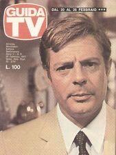 GUIDA TV 1977 N.08 MARCELLO MASTROIANNI GLAUCO MAURI RADIO E TV PRIVATE