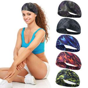 Men Women Sports Headband Yoga Gym Sweatband Hair Bands Head Prevent Sweat Band