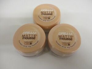 3 Maybelline Dream Matte Mouse Foundation Classic Ivory Light 2 Exp 5/23 GM 2395