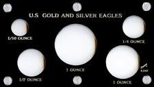 "Capital Plastics 3.5"" x  6"" 5-Coin U.S. Gold and Silver Eagles Black"