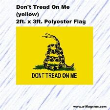 Don't Tread on Me Yellow 2x3ft