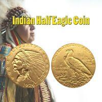 1926 Antique Liberty Indian Half-Eagle Coin - UK