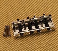 005-8396-000 Genuine Fender Deluxe Chrome 4-String Bass Bridge w/ Screws