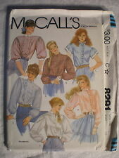 McCall's Women's Blouses Pattern# 8291 Size 12 1982