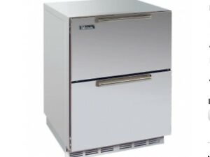 """Perlick 24"""" Signature Series Outdoor Freezer with SS drawers #HP24FO-3-5"""