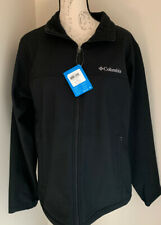 Columbia mens Bowen Lake softshell jacket coat black M medium NEW RETAIL $115