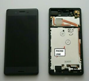 Original Sony Xperia X F5121 LCD Display Touch Screen Digitizer Frame BLACK GREY