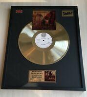 Black Sabbath Black Sabbath Custom 24k Gold Vinyl Record In Wall Hanging Frame