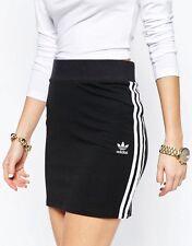 adidas Originals W 3 Stripe Black Short Mini Skirt Sizes (540) UK 14 EU 40 US M