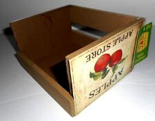 """Wooden Crate Salt & Pepper Condiment Holder Tabletop """"FALL FEST"""" New w/Tags"""