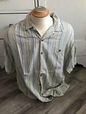 Joseph & Feiss Silk Striped Hawaiian Men's Shirt Size XL