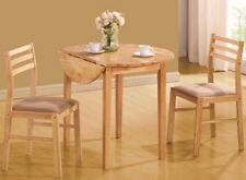 3Pc Dining Set Drop Leaf Breakfast Table Small Kitchen Dinette Bistro Chairs New