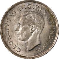 Canada 50 Cents 1937 KM #36 UNC Planchet Lamination
