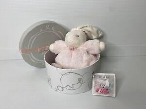 Kaloo Perle Pink Chubby Bunny Rabbit 17cm Soft Stuffed Plush Baby Toy In Box