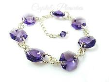 Crystal Swarovski Element Tanzanite Violet Purple Bracelet