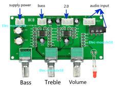 HIFI 2.1 Channel Amplifier Tone Board Treble Bass Volume Control NE5532 Preamp