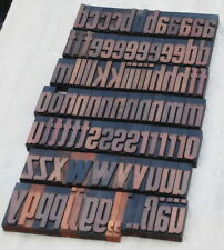 A Z 0 9 Alphabet 283 Letterpress Wooden Printing Blocks Type Printer Vintage
