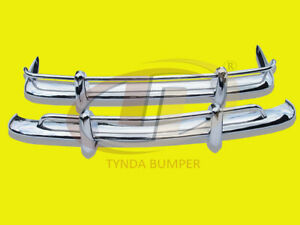 BUMPERS VW Karmann Ghia American 1956-1971 Stainless steel POLISHED SUS 304
