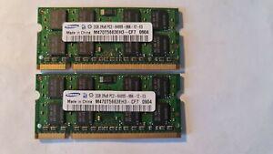 4GB ( 2 X 2GB ) PC2-6400 DDR2-800 MHz Laptop RAM Sodimm SAMSUNG M470T5663EH3