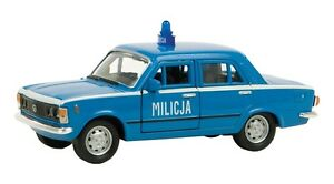 Welly Model Fiat 125p Milicja Blue Prl Car 1:3 4-39 Nip