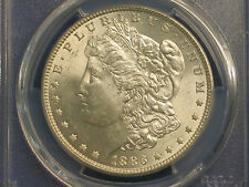 R9: 1886-P Silver Morgan $1 PCGS MS62 VSS ~Very Rare Vam 4~ Doubled Date Strong