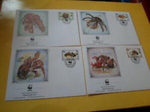 Biot 1993 Wwf Crabs Palmendieb 4 FDC First Day Covers