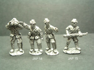 Metal WWII Japanese Infantry Troops - 2 Variations 1/76 - 20mm Scale