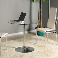 Modern Design Living Room Furniture New Stable Metal Round Glass Coffee Table