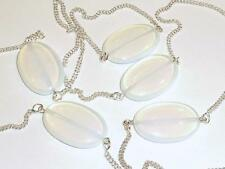 Brass Silver Plated Oval Stone Costume Necklaces & Pendants