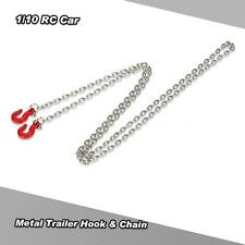 Metal Iron Trailer Hook & Chain for 1/10 D90 Axial SCX10 RC Rock Crawler Q2S3