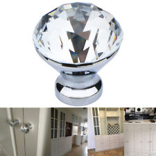 10pcs Furniture Crystal Diamond Glass Drawer Cabinet Door Knobs Kitchen Cupboard