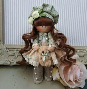 Rag doll handmade in the UK Tilda doll Ooak doll Cloth doll BELLE 6 inch tall