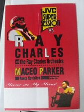Jvc Super Session '93 Ray Charles Maceo Parker Unused Rare backstage pass