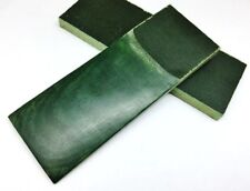 Pair of Green Canvas Micarta Scales Knife Handle Making Blanks Crafts 12X5cm GRN