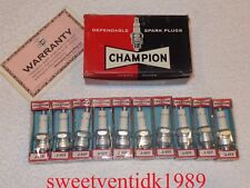 'NOS' Champion J-10Y Spark Plugs......High-Performance Mopars......Circa 1960's