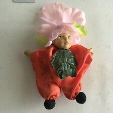 "Vintage Mini Clown Ceramic Porcelain Head Cloth Body 5"" Collectible Box 3-12"