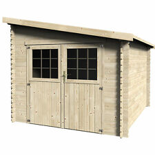 Casetta in legno rettangolare ricovero per attrezzi 268,4x326 cm
