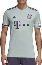 adidas Mens Bayern Munich 18/19 Away Short Sleeve Football Shirt Green Top