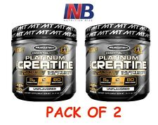 TWIN Pack MuscleTech PLATINUM 100% CREATINE Powder 160 Servings UNFLAVORED