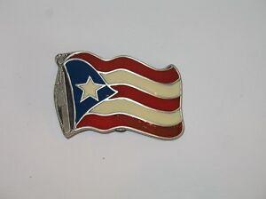 Puerto Rico Puerto Rican Waving Flag Belt Buckle