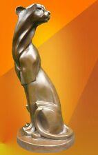 More details for hot cast bronze cheetah statue animal figure sculpture cubist cat figurine