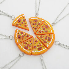 BEST FRIENDS 1Pc Slice Pizza Charm Pendant Chain Necklace Friendship BFF